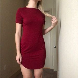 Reversible red t shirt dress